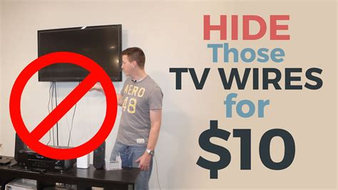 how to your outside how to hide your tv wires for 10