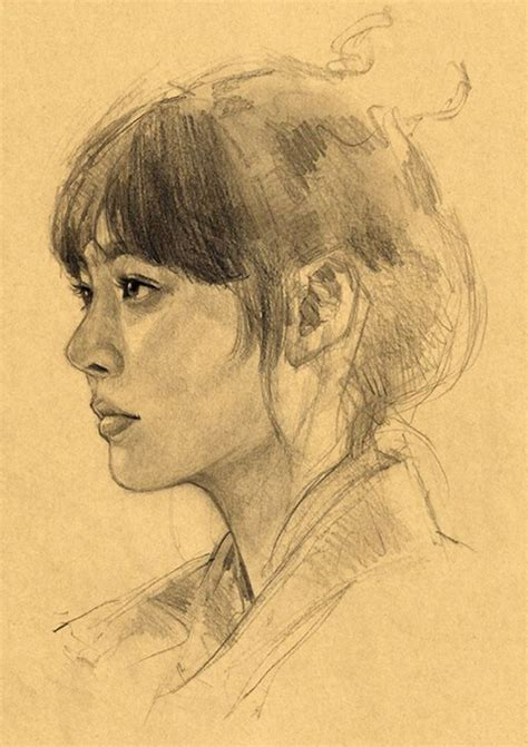 Portraits And Sketches by 25 Best Ideas About Portrait Sketches On