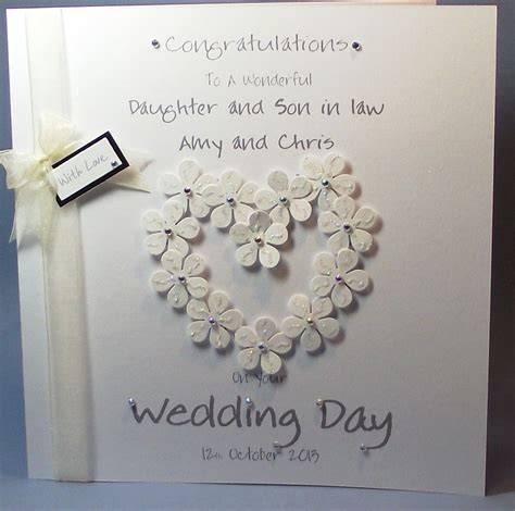 Personalised Wedding Cards by Personalised Handmade Flower Congrats Wedding Day