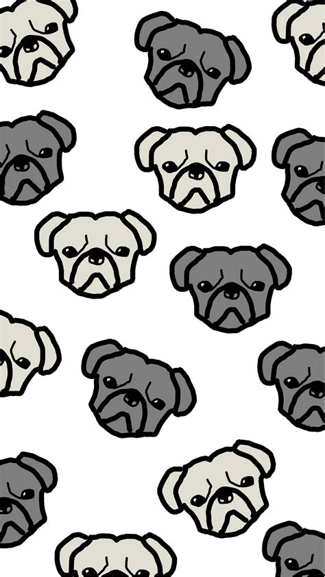 pug wallpaper iphone 6 phone wallpaper pug pattern the pug diary