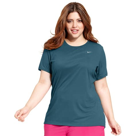 Running S Plus Size Clothing Plus Size Shirts nike plus size sleeve dri fit running top in blue