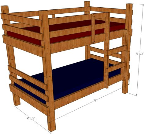 bunk bed plans save money  space  building