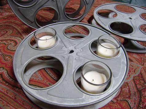 home movie theater decor ideas movie reels for movie industrial film reel wedding centerpiece movie