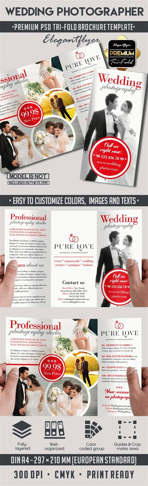 wedding brochure psd wedding photography tri fold psd template by elegantflyer