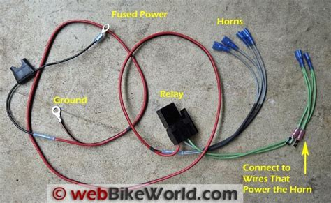 bike horn cutout wiring diagram horn cutout diagram