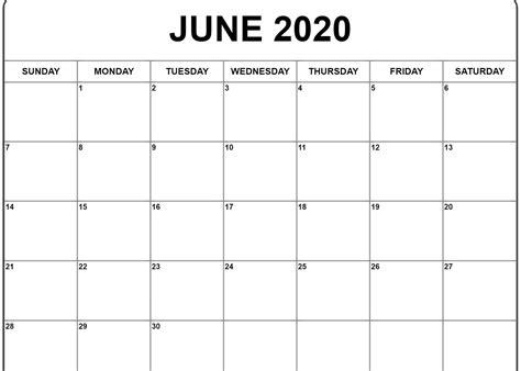 june  calendar  word excel template  images printable calendar template