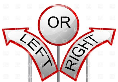 st on right or left left or right arrows road sign royalty free vector clip art image 35273 rfclipart