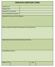 employee complaint form template employee complaint form printable templates