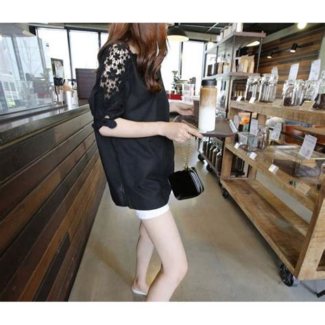 Blouse Wanita Big Size Murah Blouse Wanita Korean Style Size M Black
