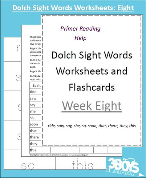 sight words flash dolch sight words worksheets week eight