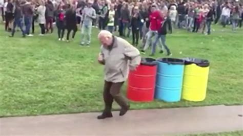 old man dancing to house music watch dancing grandfather steals the show at dutch edm festival legend capital