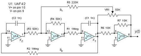 audio oscillator integrated circuit state variable oscillator