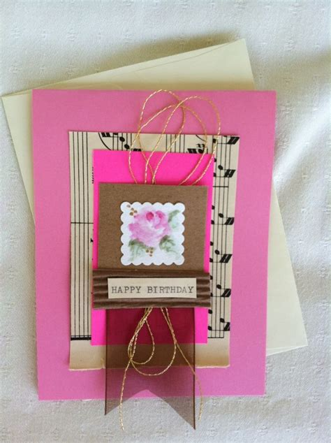 Handmade Sheet Greeting Cards - handmade greeting cards for an special person a