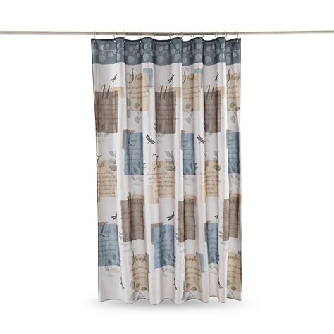 Inspirational Shower Curtain Kmart by Essential Home Fabric Shower Curtain Botanical