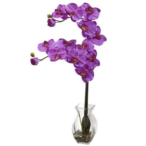 Artificial Flower Arrangements In Vases by Phalaenopsis Orchid Silk Flower Arrangement With Vase