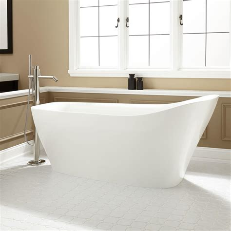 slipper tub vivien acrylic freestanding slipper tub bathroom