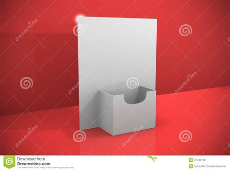 3d blank brochure holder template royalty free stock