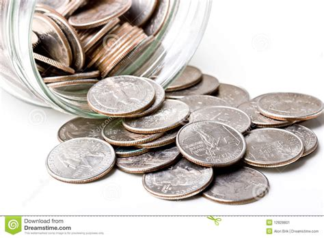 chagne glasses clipart quarters 25 cents change coins in a glass jar stock image