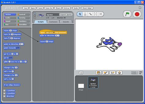 on scratch introduction to scratch exercise 1