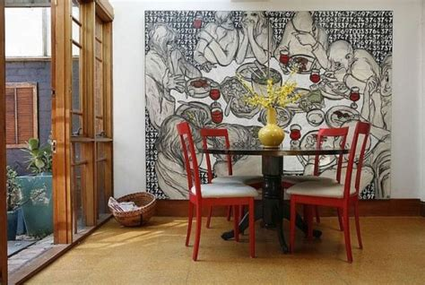 art for dining room wall different ways to use beautiful and large art pieces