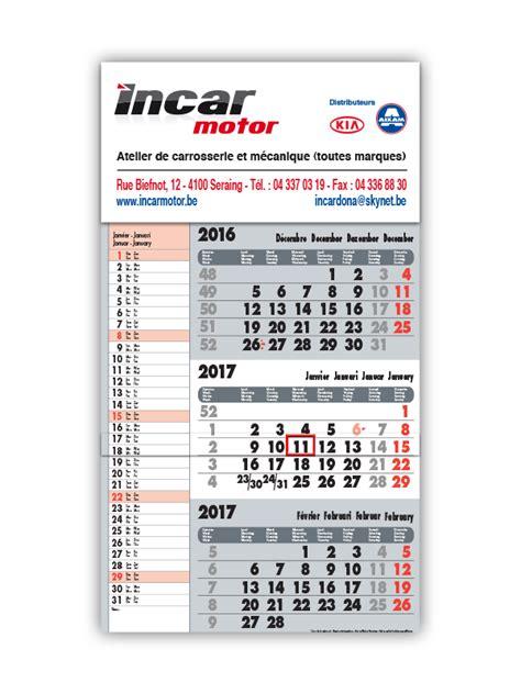 Calendrier 2018 3 Mois Calendrier Publicitaire Impression De Calendriers 2018