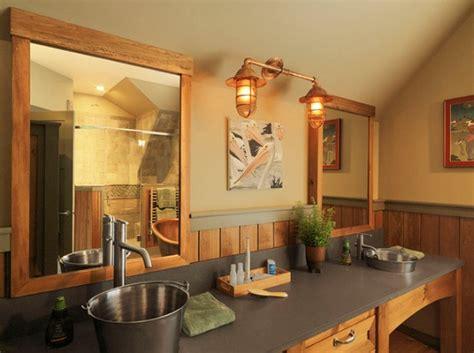Rustic Modern Vanity Lighting Rustic Bathroom Lighting Ideas Home Interiors