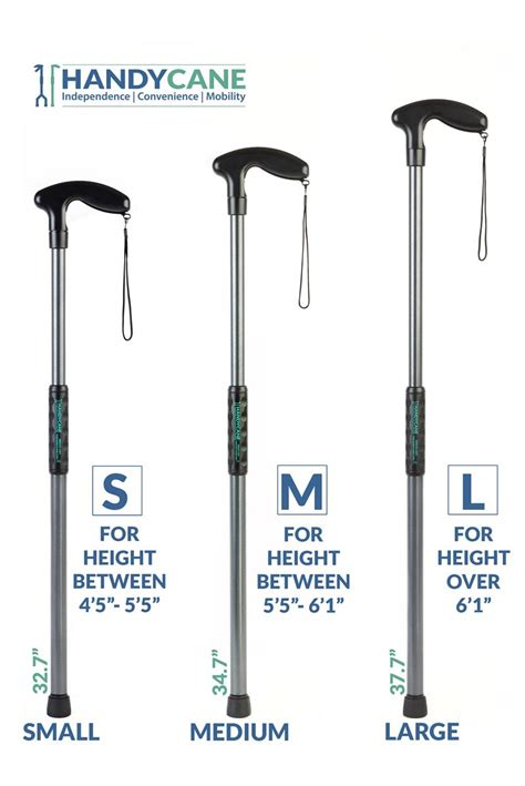 handy cane size medium length 34 7 quot for height between 5
