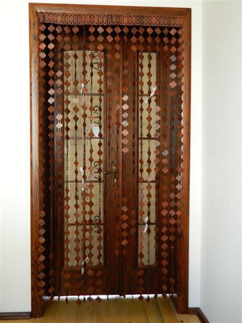 bead door curtain wood beaded curtain myideasbedroom com