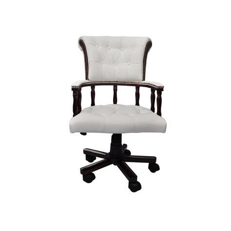 chesterfield captains swivel chair chesterfield captains swivel office chair white www