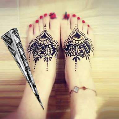henna tattoo black ink halloween 12 black herbal henna cones temporary tattoo