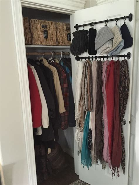 organize small closet 25 best ideas about small coat closet on pinterest