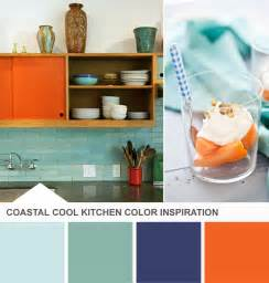 Kitchen Palette Ideas Blue And Orange Kitchen Ideas On Orange Retro