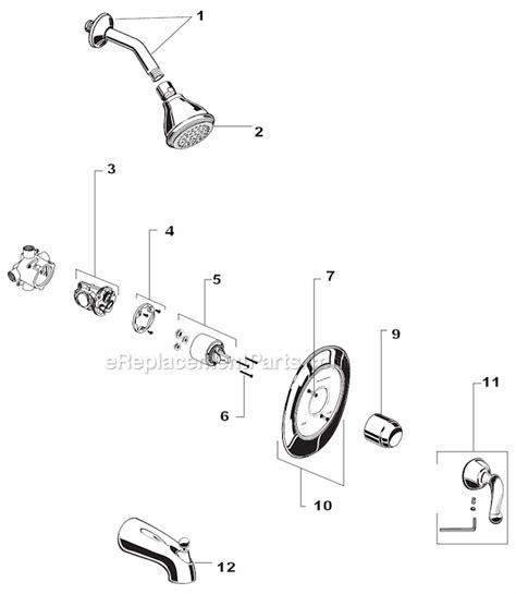 american standard shower faucet parts diagram american standard 4501 parts list and diagram