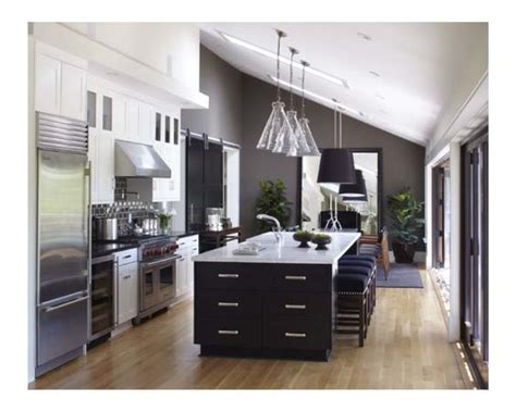 Kitchen Cabinets With Bulkhead Bulkhead With Lighting Cabinets To Deal With Upward Sloping Ceiling Kitchen Ideas