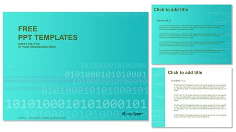 Binary Code Computer Powerpoint Templates Binary Powerpoint Template