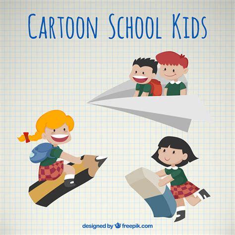 imagenes de escolares jugando dibujos animados de ni 241 os escolares vintage descargar