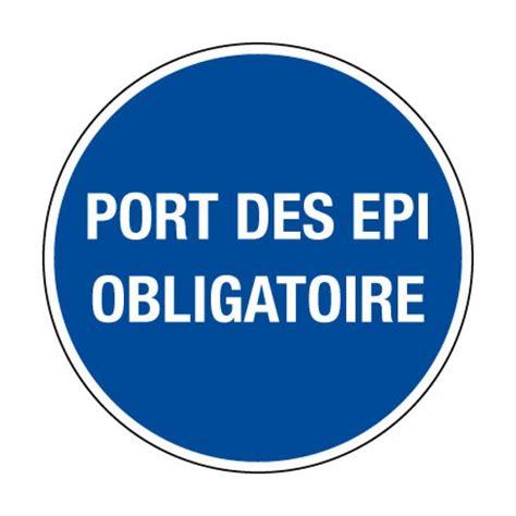 ob21 picto pvc port des epi obligatoire pictogramme