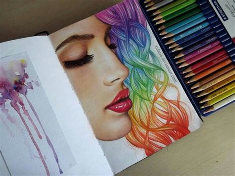 colored hair drawings hair rainbow hair and rainbows