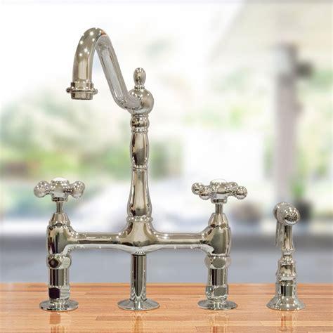 bridge faucets for kitchen randolph morris bridge faucet rmnab511mc s vintage tub