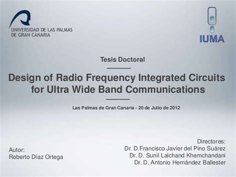 radio frequency integrated circuits journal design of radio frequency integrated circuits for uwb communications