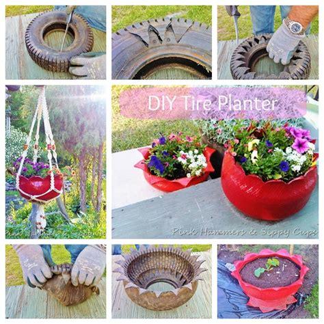 Tire Planters Diy by Wonderful Diy Beautiful Tire Planter