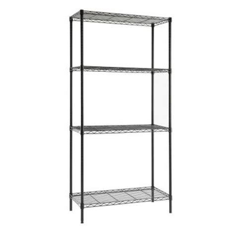 hdx 4 shelf 36 in w x 72 in h x 16 in d steel shelving