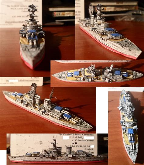 Papercraft Battleship - battleship h 44 class by aolrumi001 on deviantart