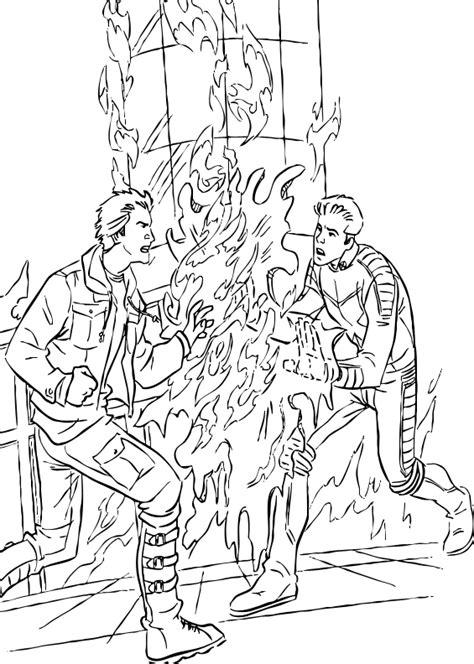 iceman and pyro coloring pages hellokids com