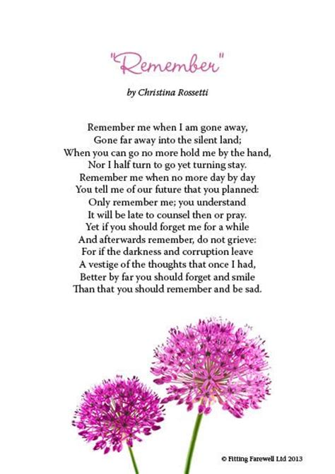 Weep Not For Me Funeral Poem
