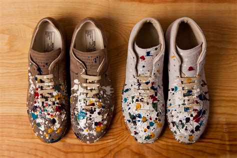 maison martin margiela paint splatter sneakers maison martin margiela 2012 pre fall paint splatter
