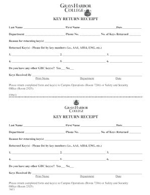 key receipt template general receipt template forms and templates fillable