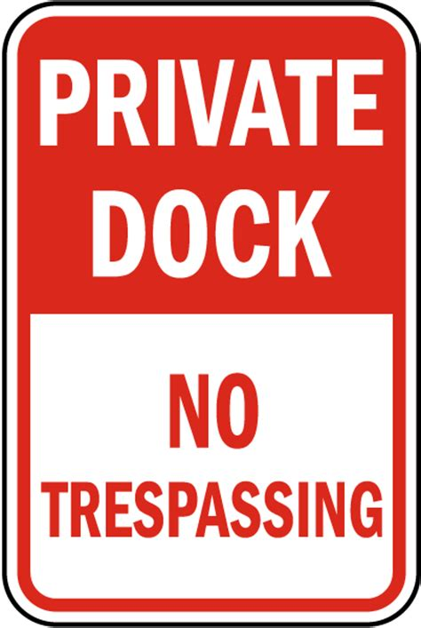 bootje tekenen private dock no trespassing sign by safetysign f7721