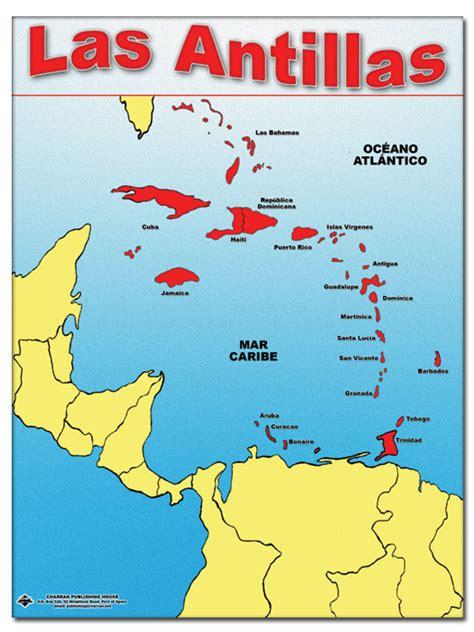 mapa america central y antillas antillas design bild