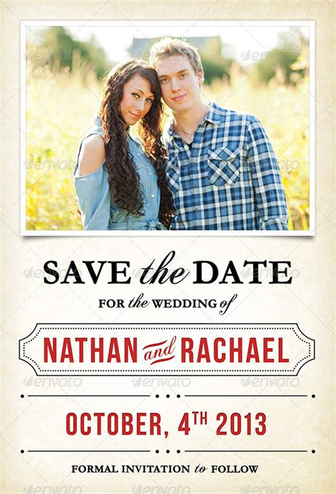 Save The Date Card Template Font And Back by Wedding Save The Date Invitation Card By Niagaracreative
